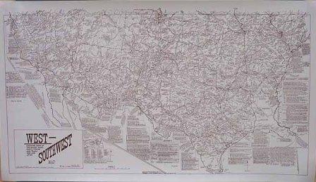 Poster: Southwest/West Historical Map (Large)