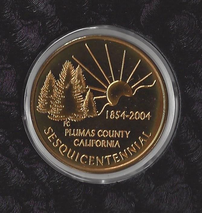 Plumas County Sesquicentennial Coin